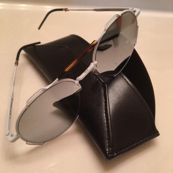 Dior Grey Mirror Aviator Style Sunglasses